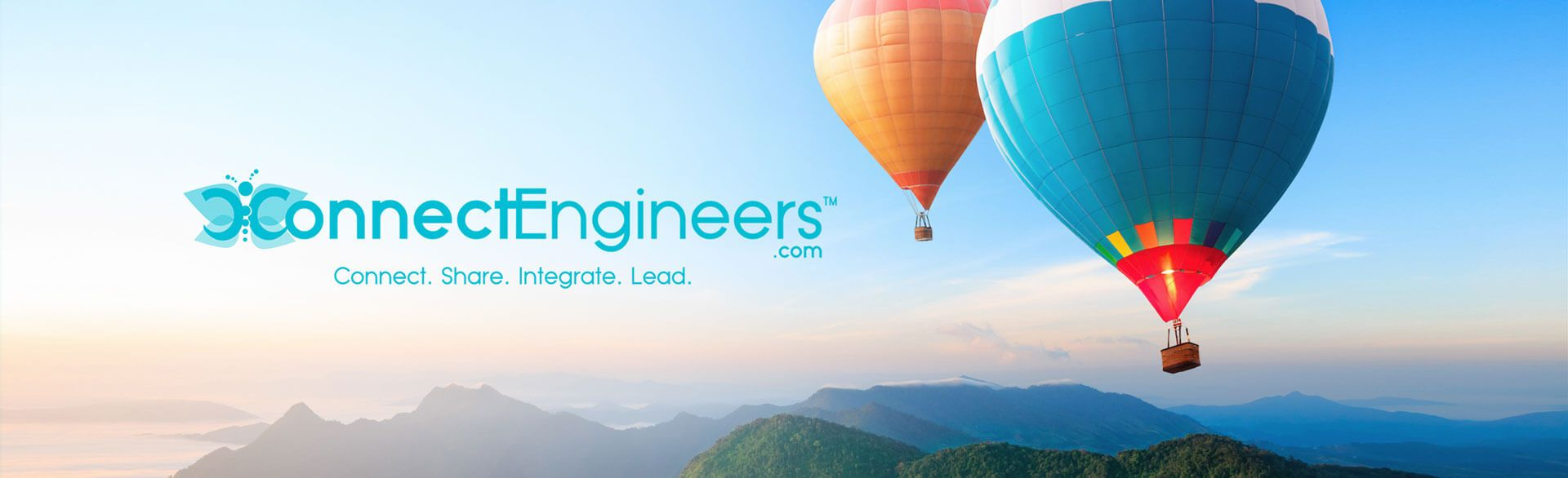 iConnectEngineers® Logo and mantra: Connect. Share. Integrate. Lead.